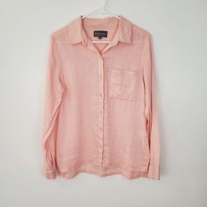 Michael Stars 100% linen button down top